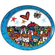 Talerz In the Park 25cmx21cm Romero Britto