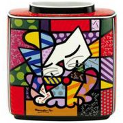 Wazon Blue Cat 16cm Romero Britto