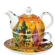 Tea for one City Sunset James Rizzi