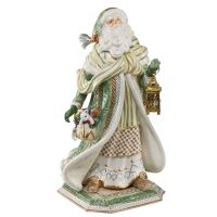 Figurka Santa in Green Coat 52 cm Goebel