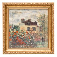Obraz The Artist's House 32x32 cm Claude Monet Goebel