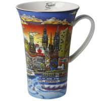 Kubek Sunset over Hamburg 500ml Charless Fazzino Goebel