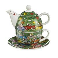 Tea for One Crosstown Traffic- James Rizzi