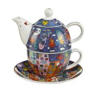 Tea for One Pop Art City Birds -James Rizzi
