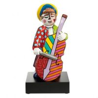 Figurka Bass Player -  big Pop Art Romero Britto
