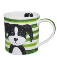 Kubek Orkney Stripy Dog Green 350ml Dunoon