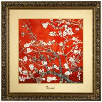 Obraz Almond Tree Red 68x68cm Vincent van Gogh Goebel